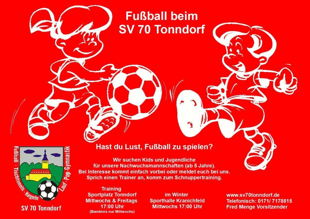 Fußballspielen - Mach mit!